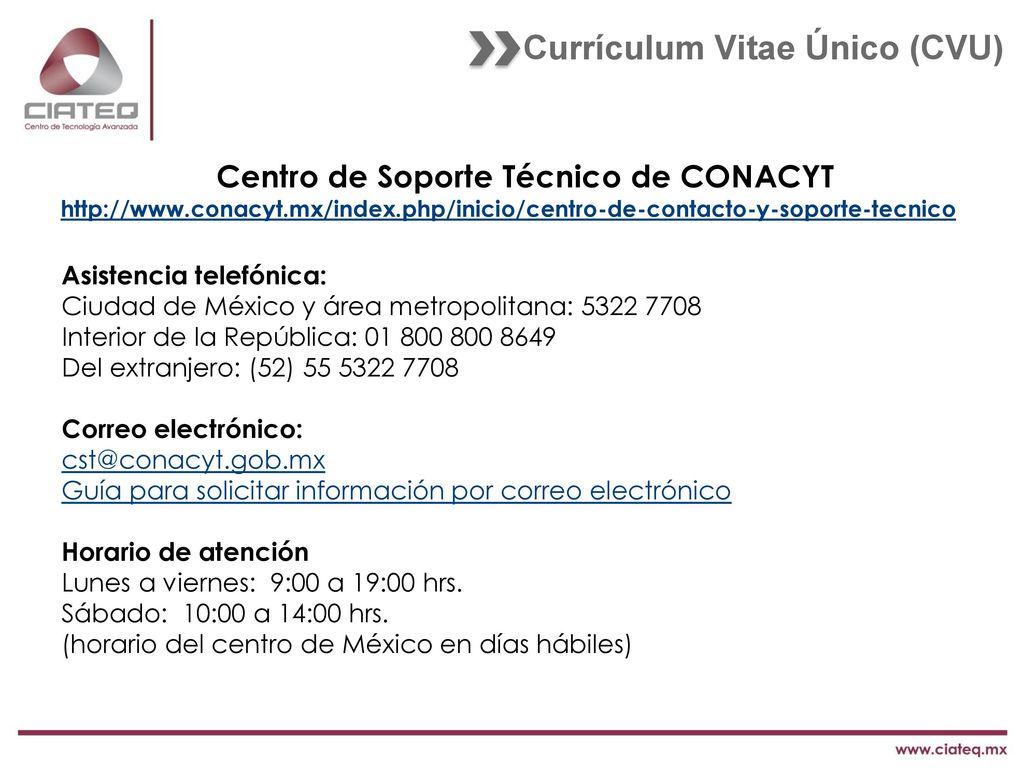 Actualización de CVU. - ppt descargar