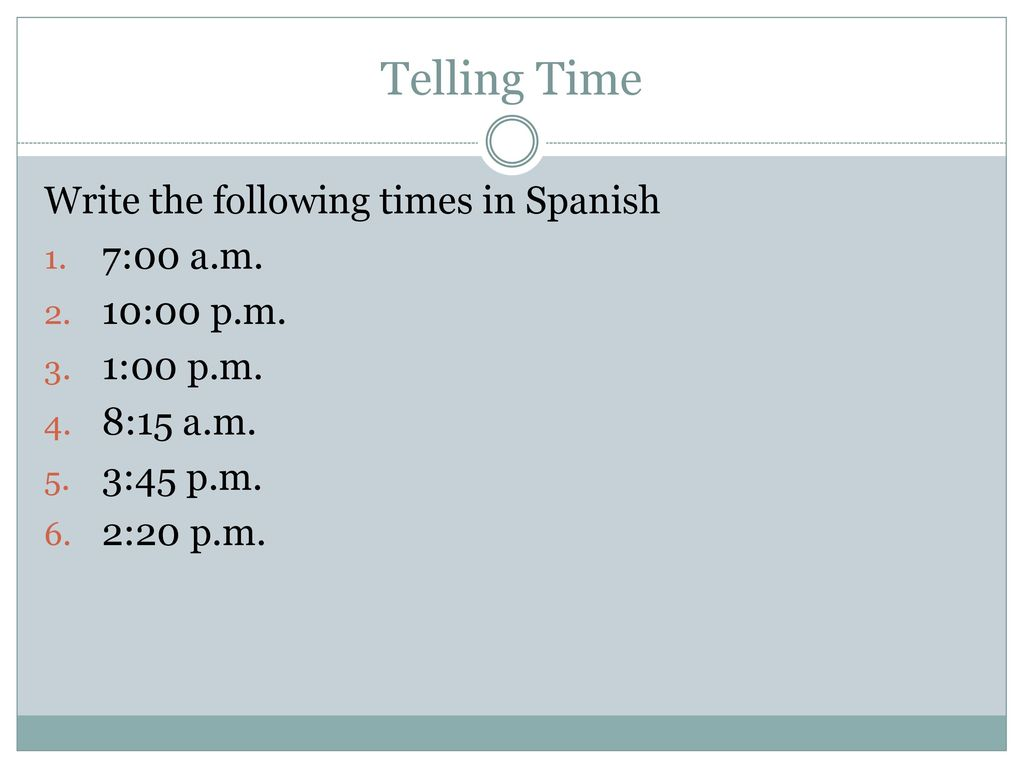 How Do You Respond To The Following Greetings In Spanish Ppt