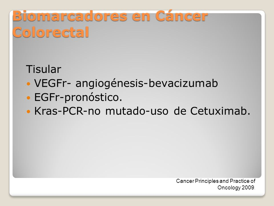 Biomarcadores en Cáncer Colorectal