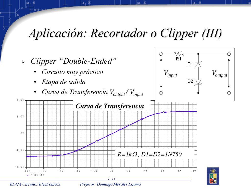 Circuito Recortador : El a circuitos electrónicos semestre primavera ppt descargar