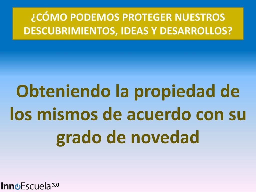 TALLER DE PROTECCIÓN DE LAS IDEAS - ppt descargar