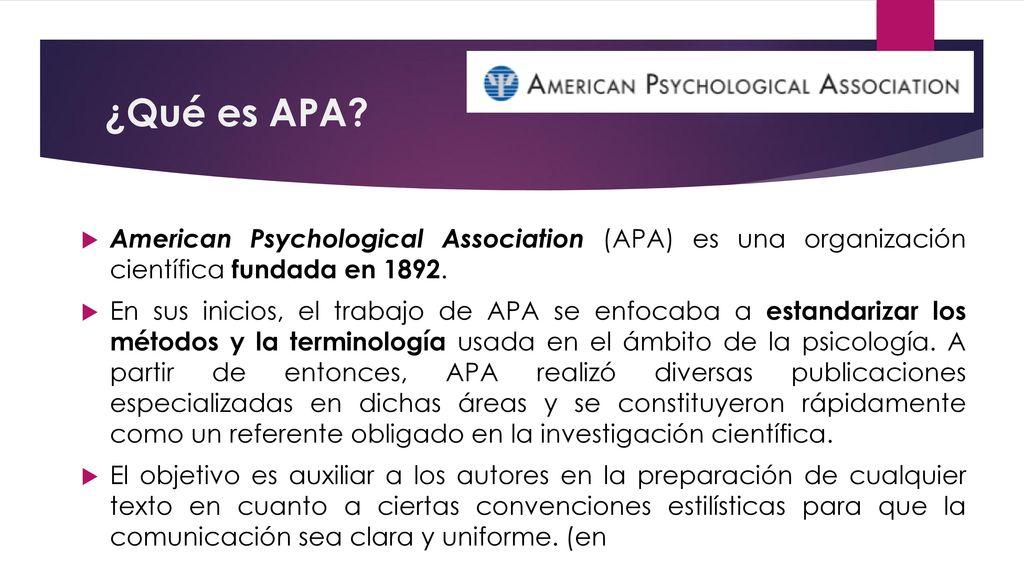 Formato Simple De Cita Formato Apa Prof Christian Yáñez