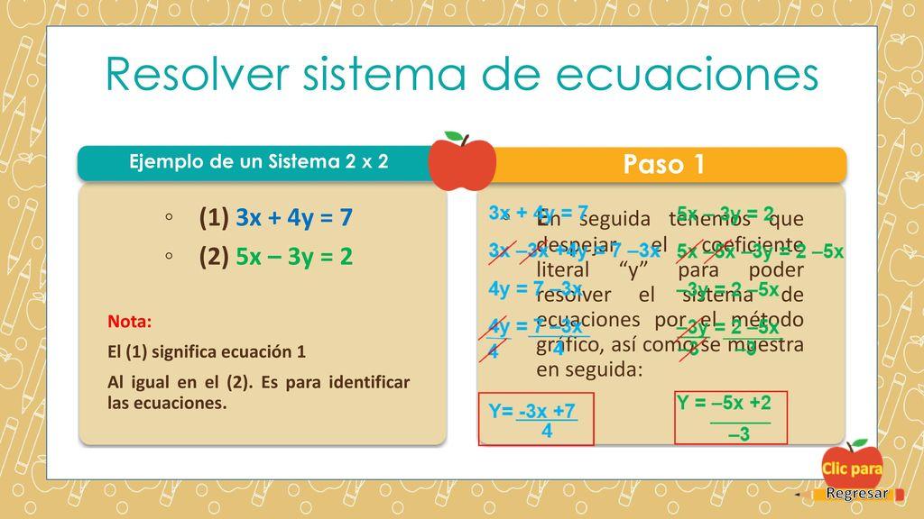 Métodos Para Resolver Sistema De Ecuaciones De Primer Grado 3x3 Ppt Descargar