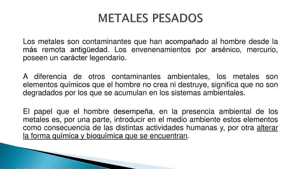 Contaminacin ambiental ppt descargar metales pesados urtaz Gallery