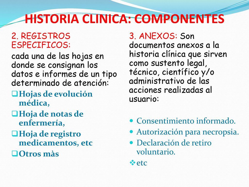 LA HISTORIA CLINICA. - ppt descargar