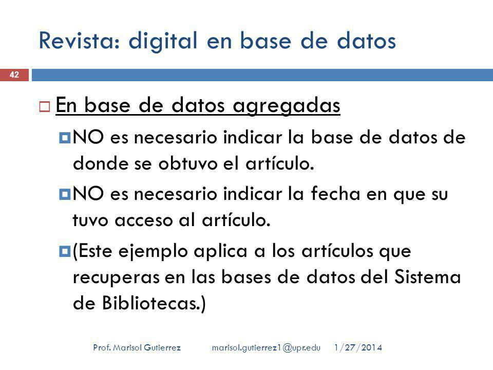 Revista: digital en base de datos