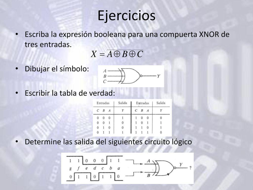 Circuito Xnor : Circuitos combinacionales ii ppt descargar