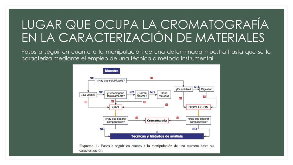 CROMATOGRAFÍA ANALISIS DE LOS ALIMENTOS II - ppt descargar