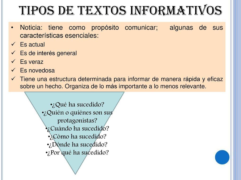 Textos Informativos Leer Para Saber Más Ppt Descargar