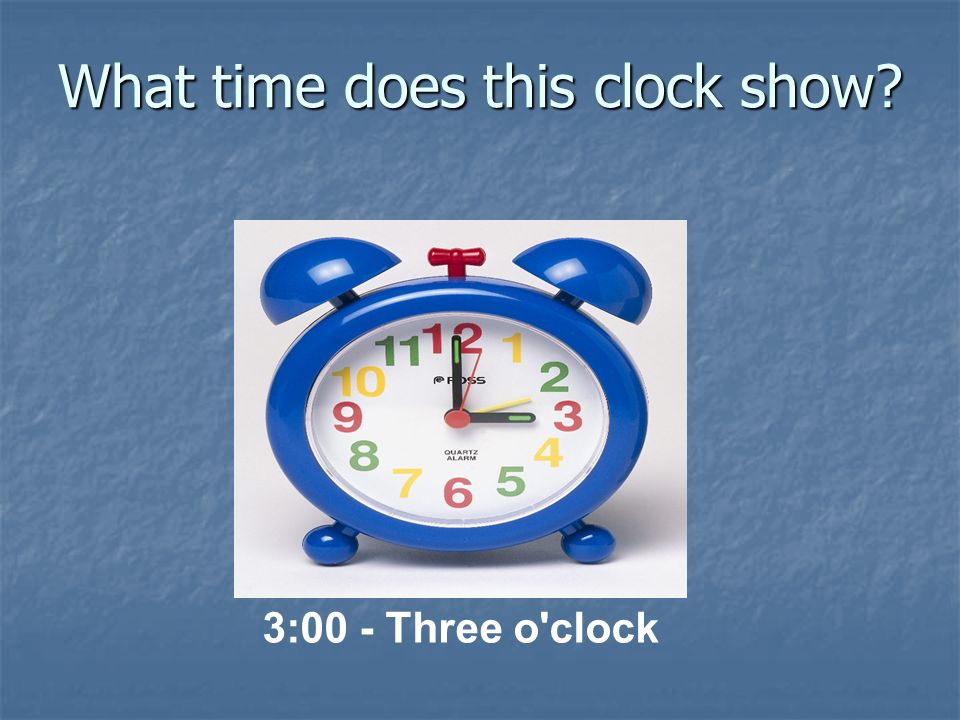 What time does this clock show