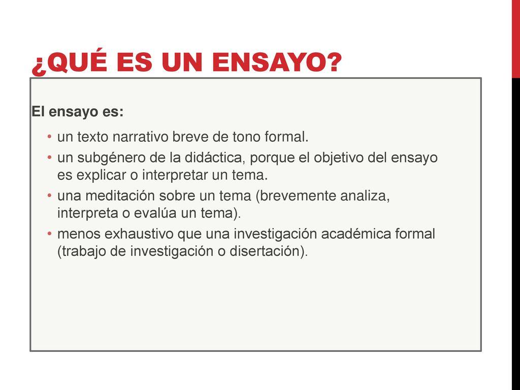 Estructura Y Clasificación Del Ensayo Ppt Descargar