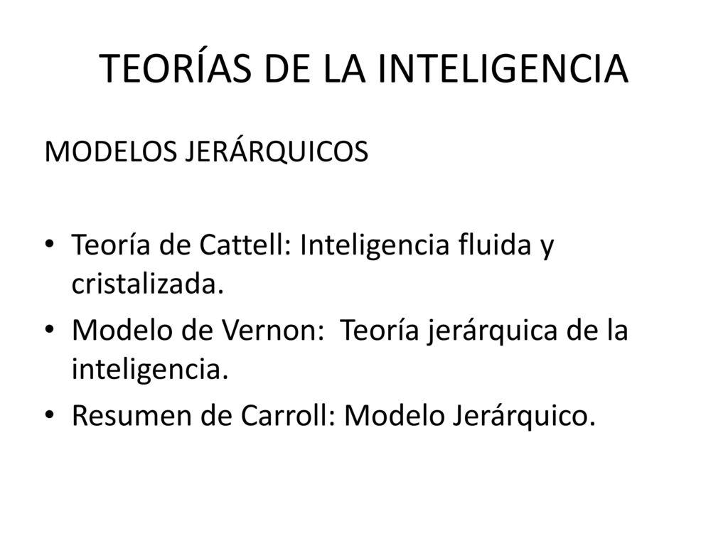 Teorias De La Inteligencia Ppt Descargar