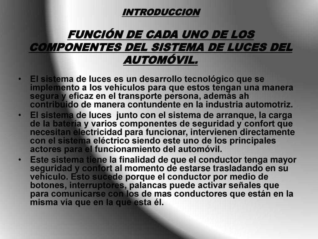 Sistema electrico del automovil introduccion