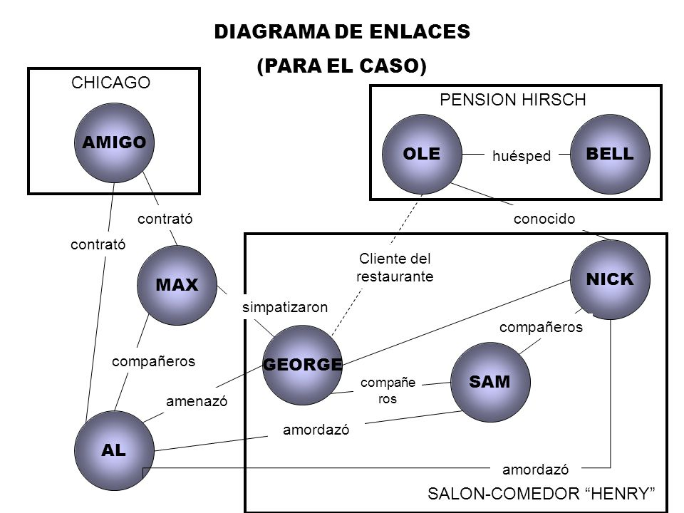 DIAGRAMA DE ENLACES (PARA EL CASO) CHICAGO PENSION HIRSCH AMIGO OLE