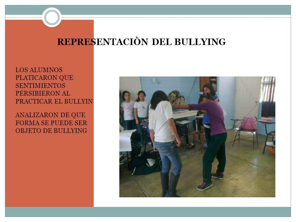 REPRESENTACIÒN DEL BULLYING