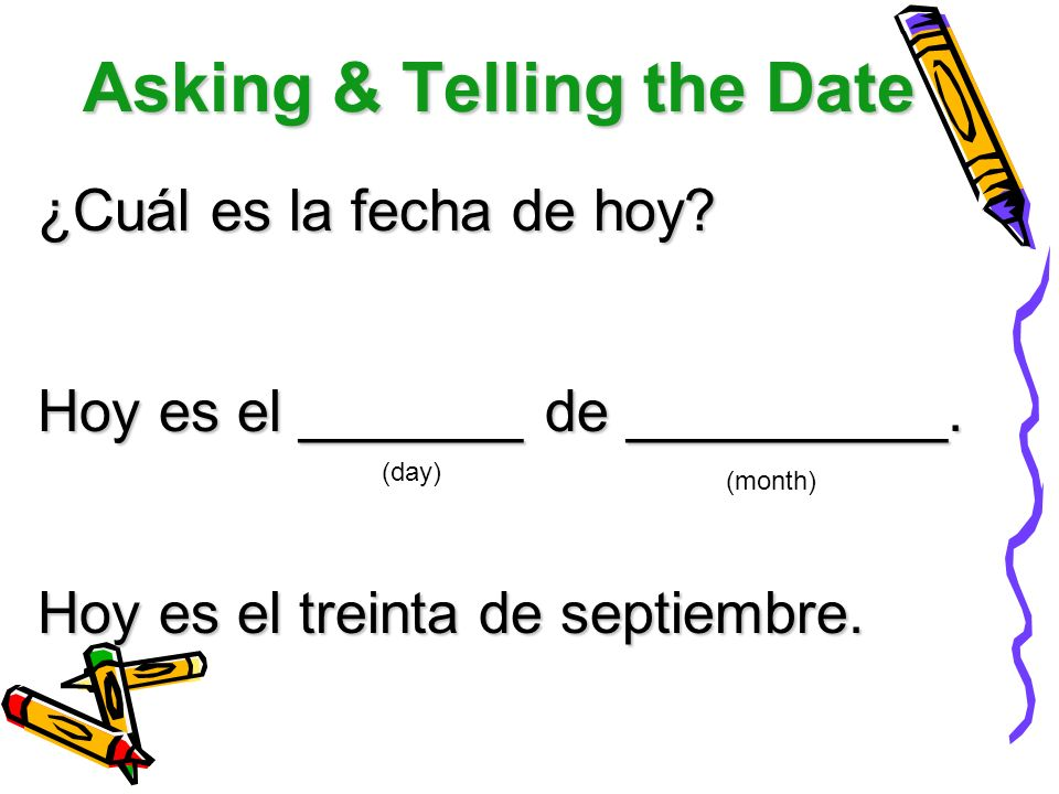 Asking & Telling the Date