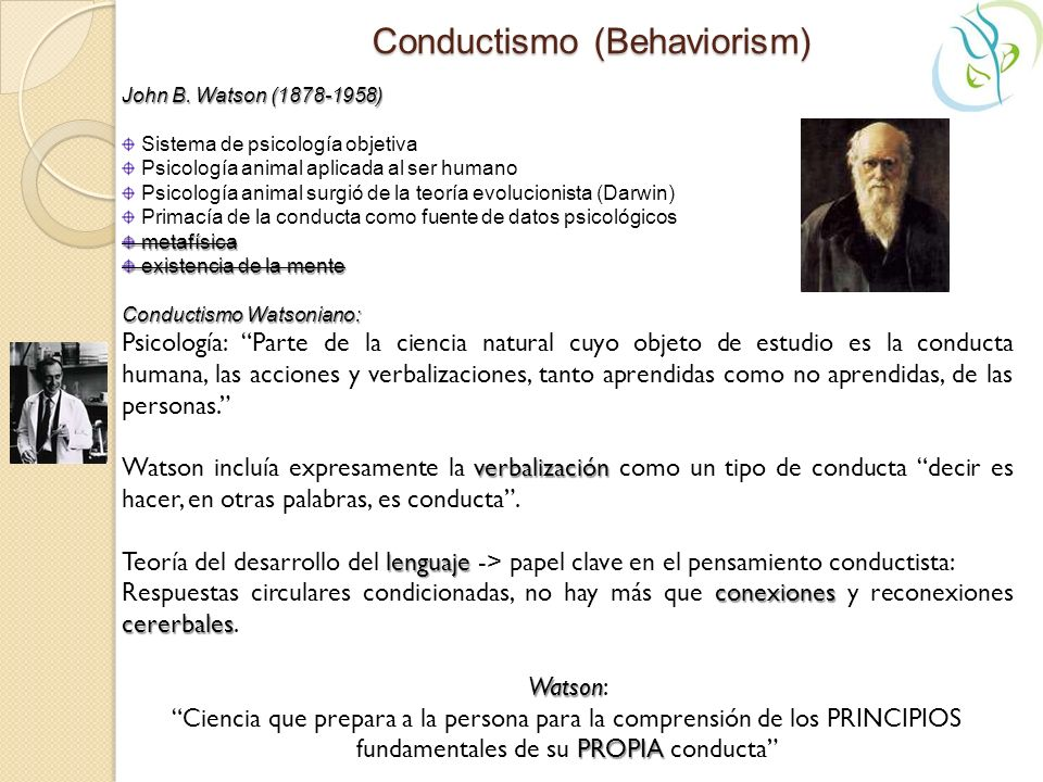 Conductismo (Behaviorism)