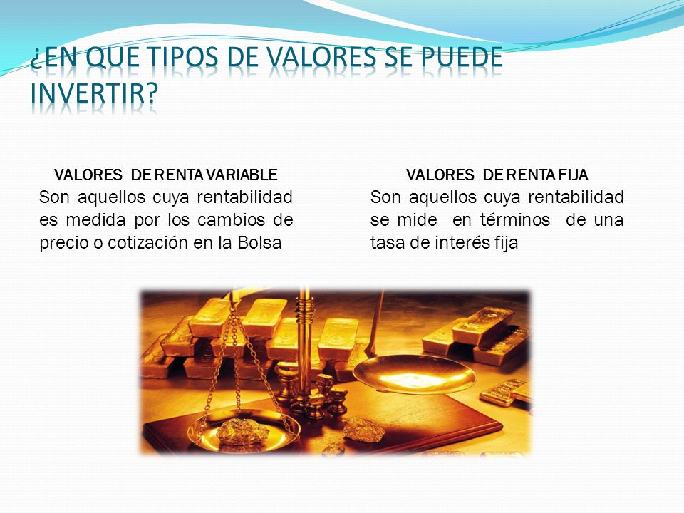 VALORES DE RENTA VARIABLE