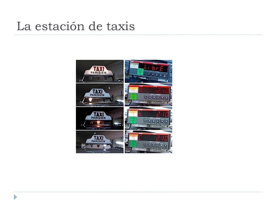 La estación de taxis