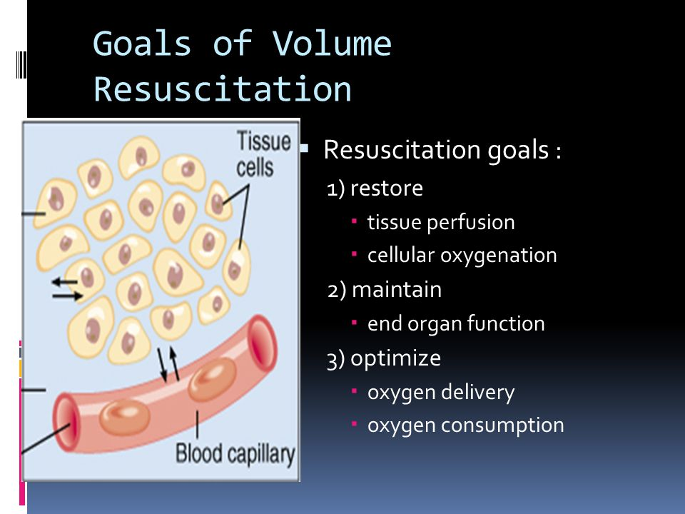Goals of Volume Resuscitation