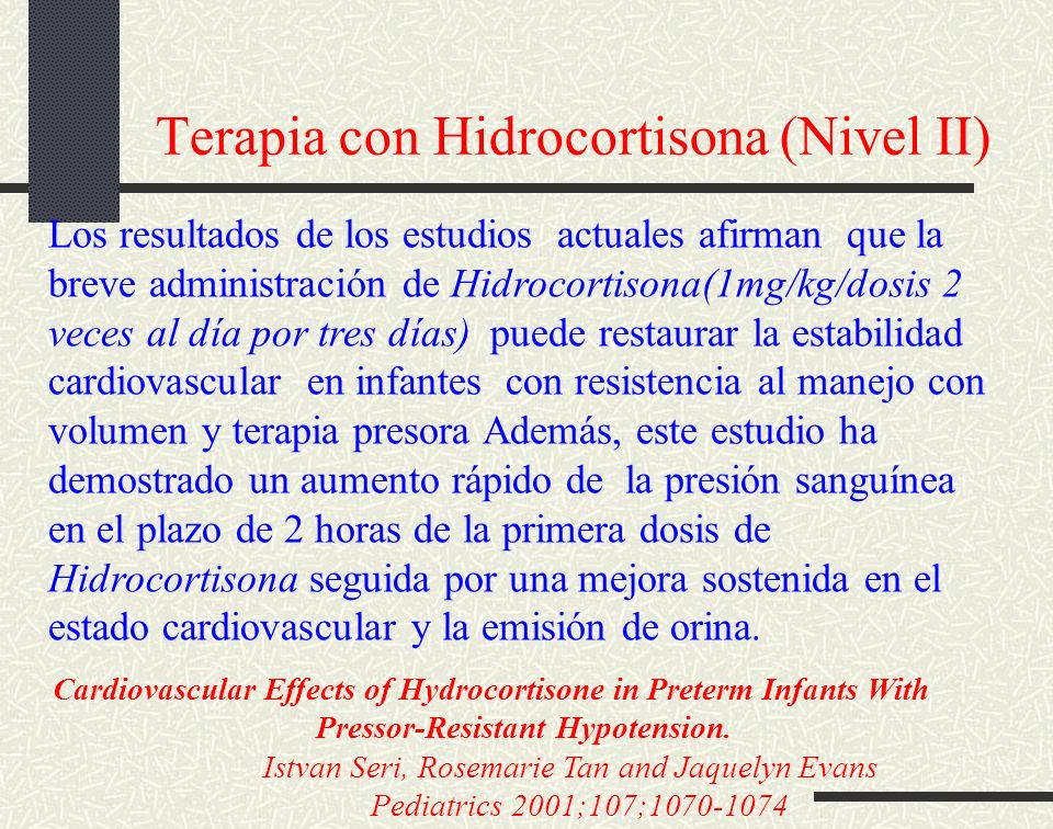 Terapia con Hidrocortisona (Nivel II)