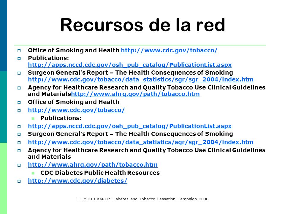 DO YOU CAARD Diabetes and Tobacco Cessation Campaign 2008