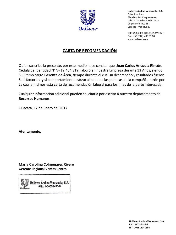 Carta De Recomendacion Ppt Descargar