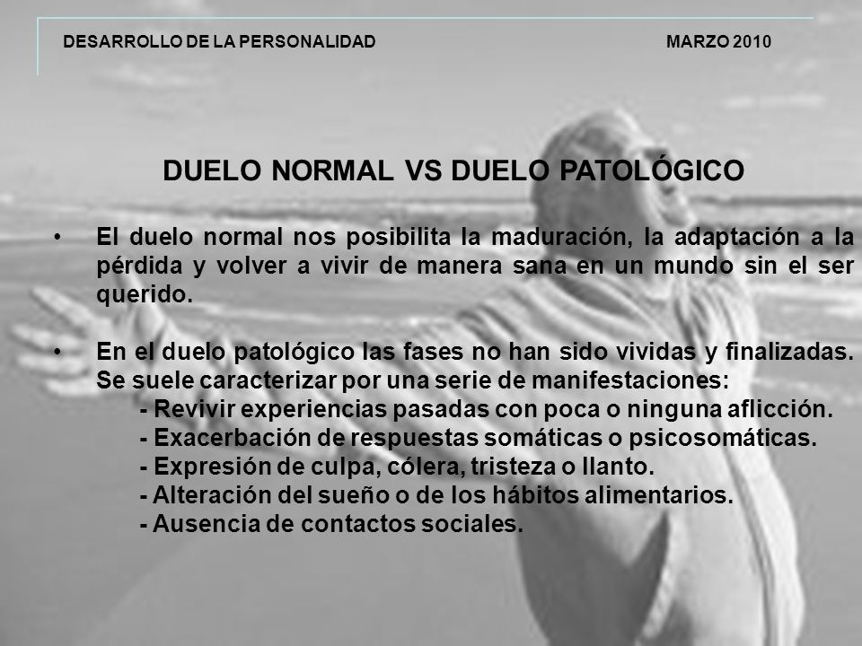 DUELO NORMAL VS DUELO PATOLÓGICO