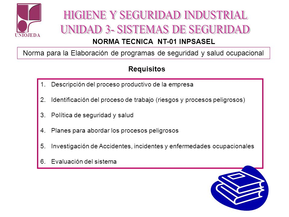 NORMA TECNICA NT-01 INPSASEL