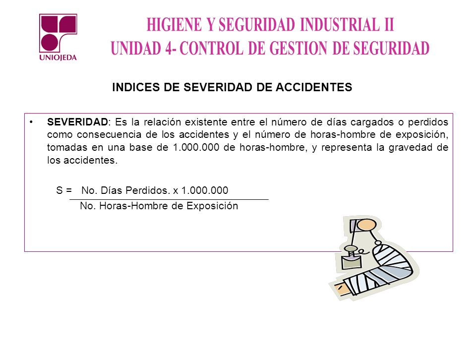 INDICES DE SEVERIDAD DE ACCIDENTES