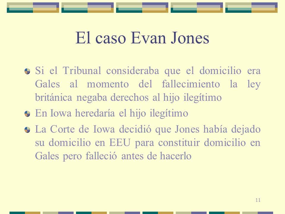 El caso Evan Jones