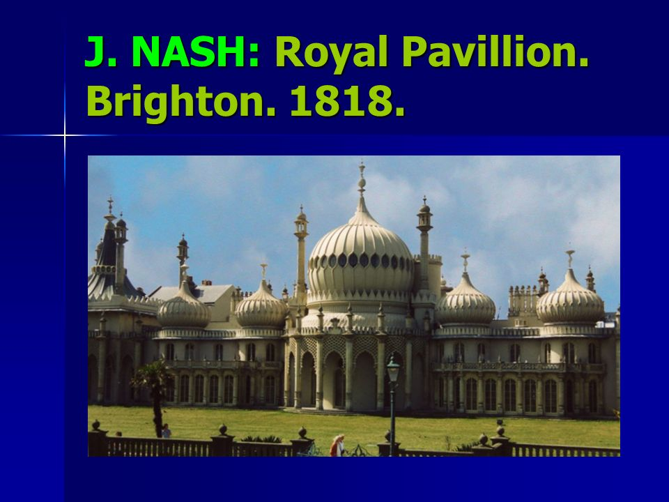 J. NASH: Royal Pavillion. Brighton