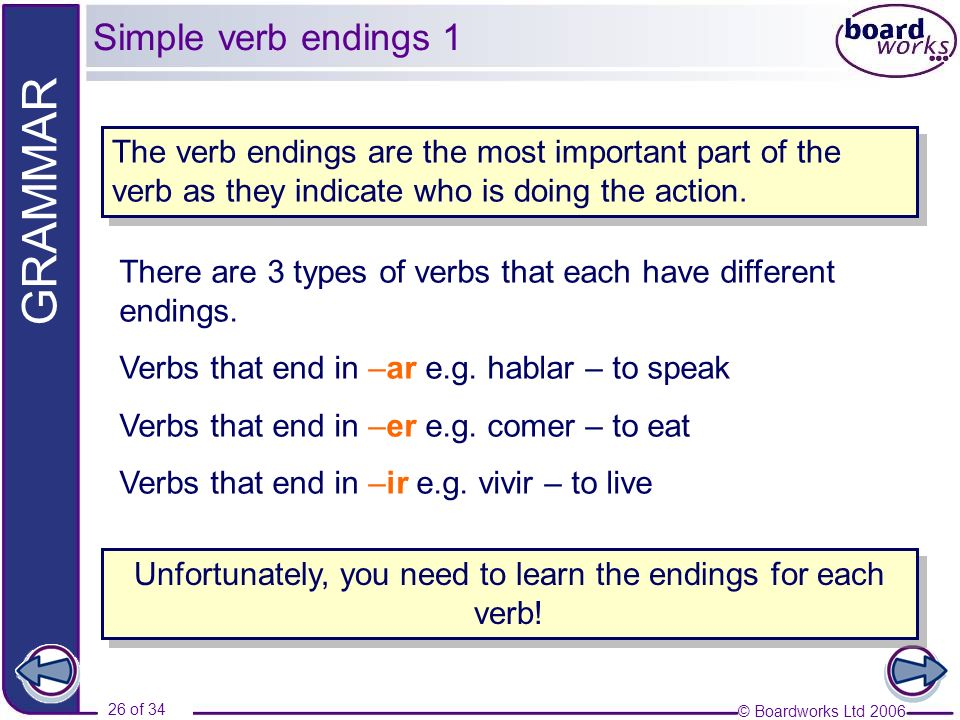 Unfortunately, you need to learn the endings for each verb!