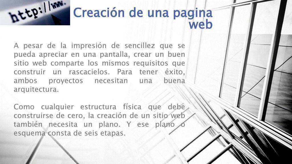 Creación De Una Pagina Web Ppt Descargar