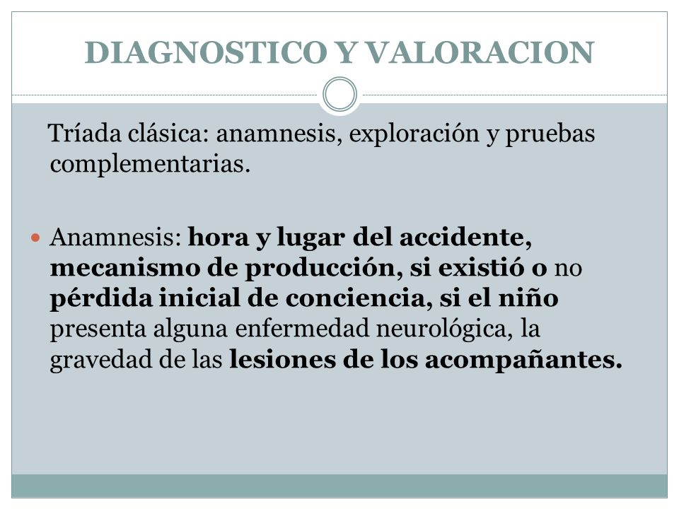 DIAGNOSTICO Y VALORACION