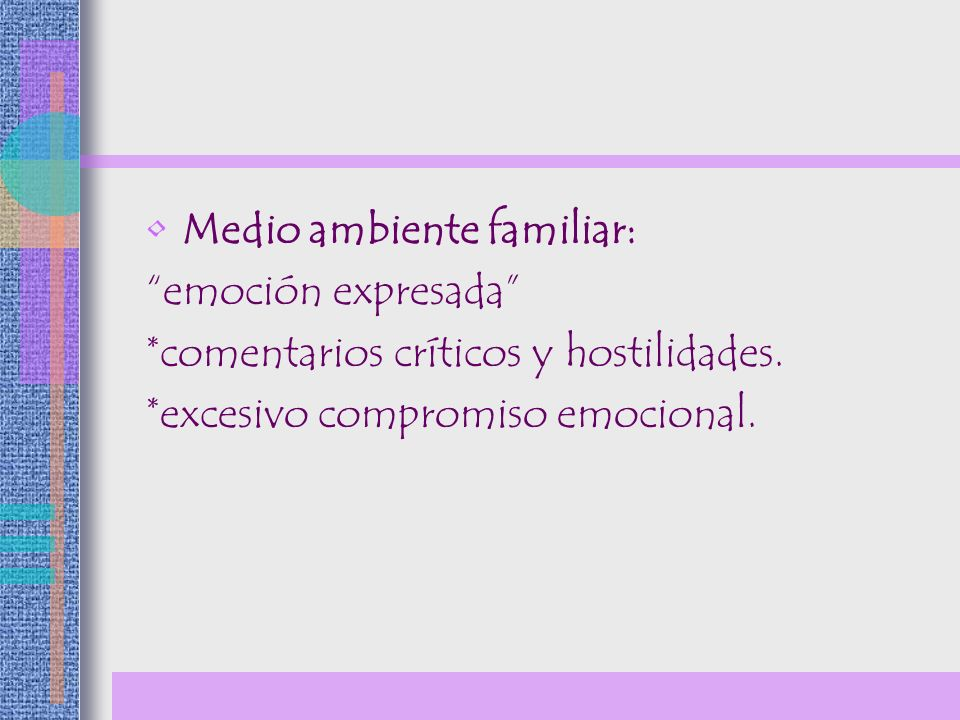 Medio ambiente familiar: