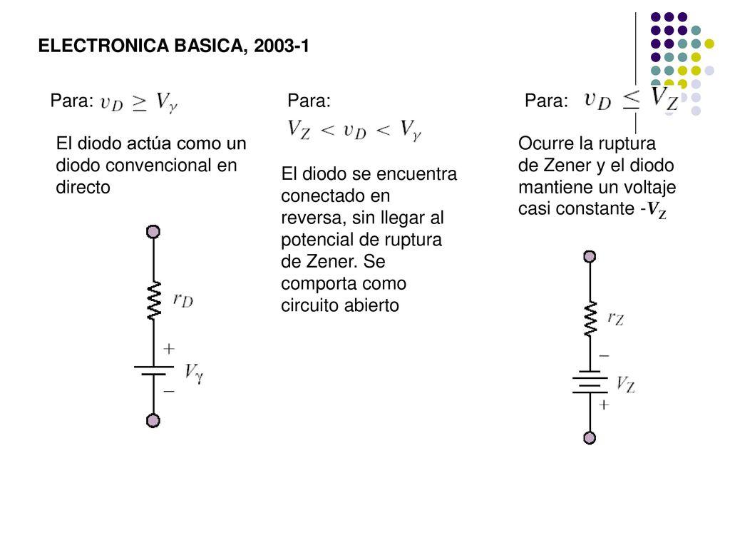 Circuito Zener : Circuitos con diodos semiconductores ppt descargar
