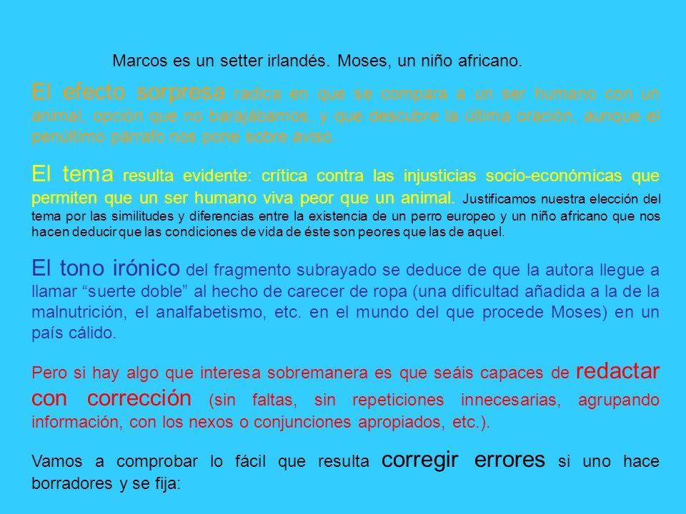 MARCOS y MOSES de Carmen Posadas. - ppt descargar