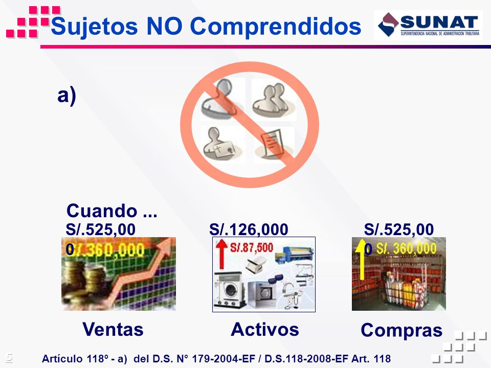 Sujetos NO Comprendidos