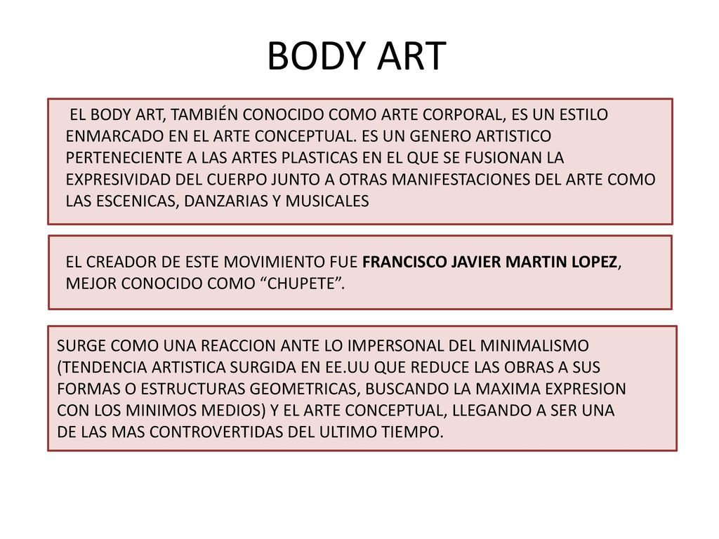 BODY ART. - ppt descargar