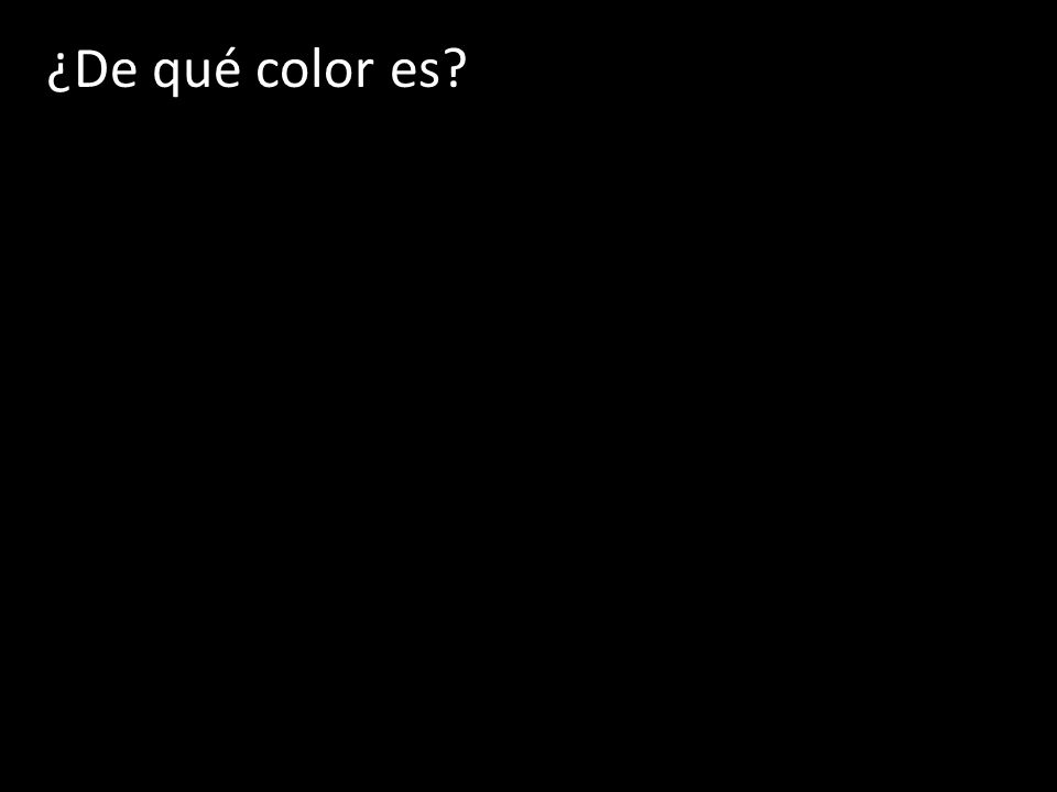 ¿De qué color es