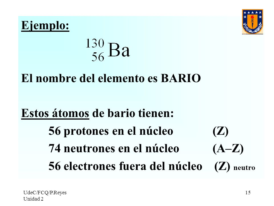 Resultado de imagen de Protones y neutrones del Bario