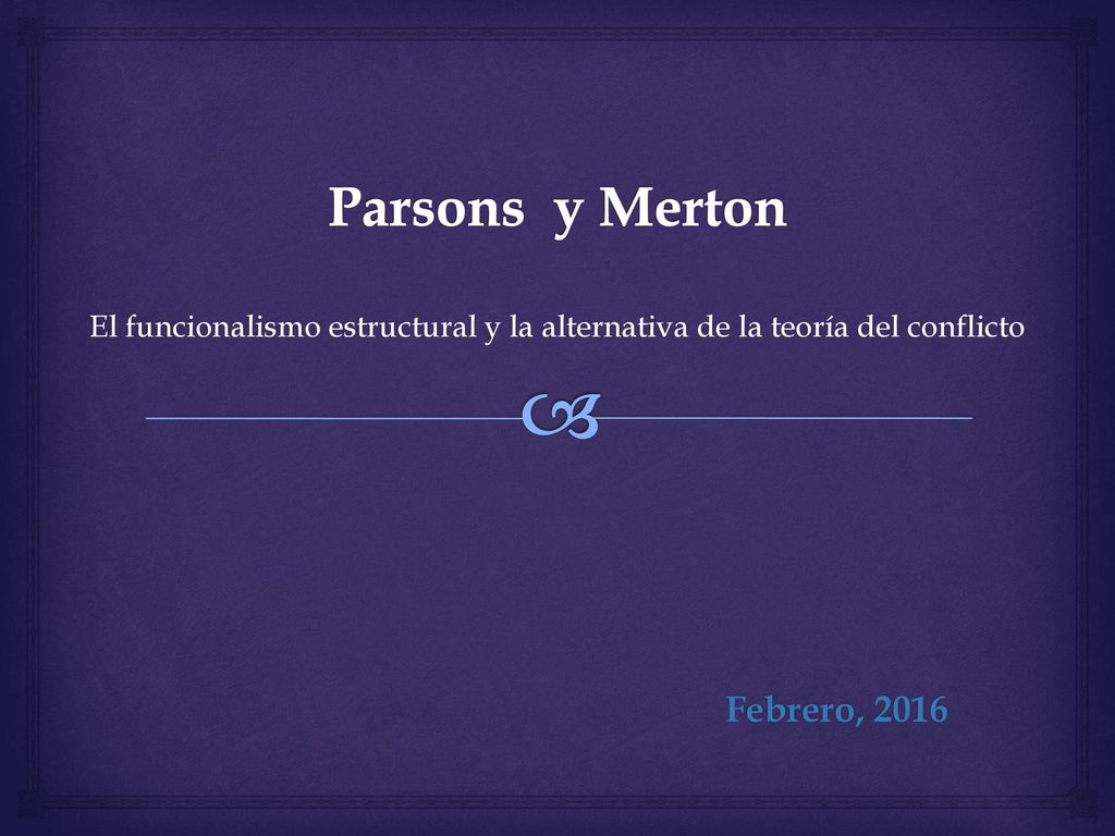 Parsons Y Merton Febrero Ppt Descargar