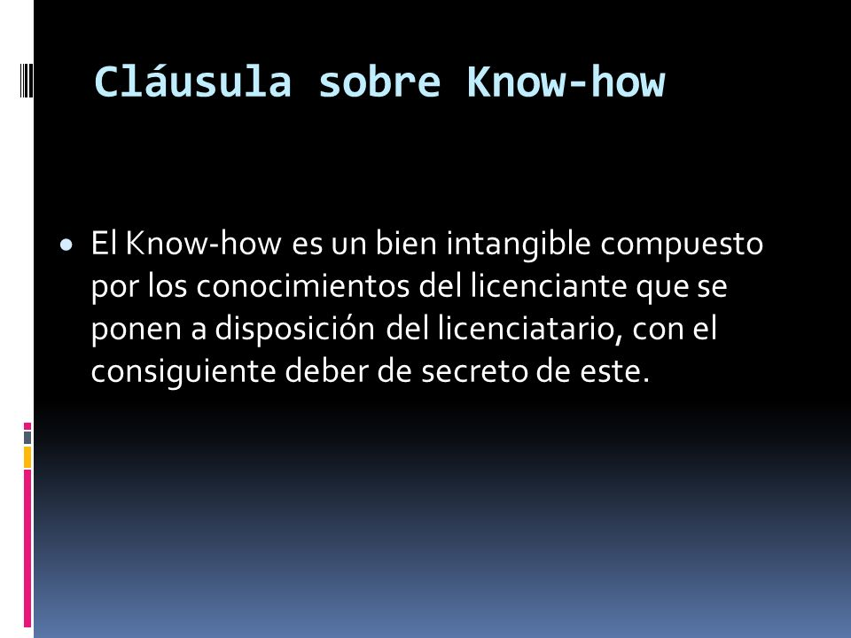 Cláusula sobre Know-how