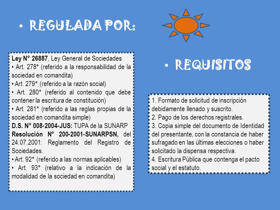 REGULADA POR: REQUISITOS