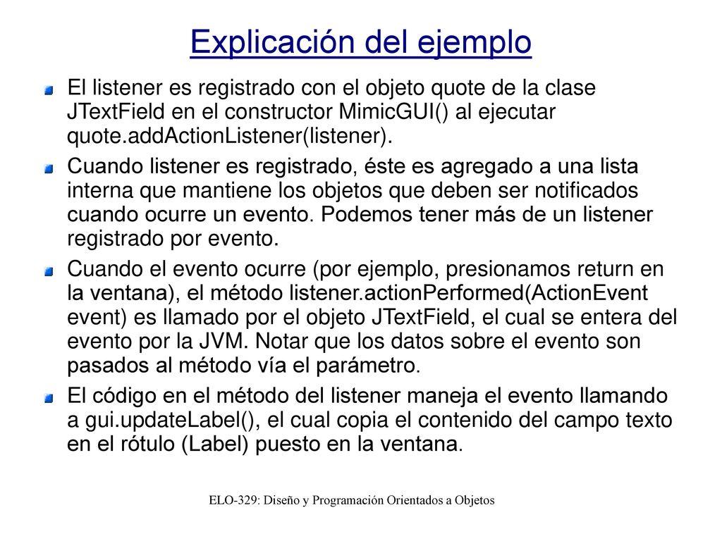 ELO329: Diseño y Programación Orientados a Objetos - ppt descargar