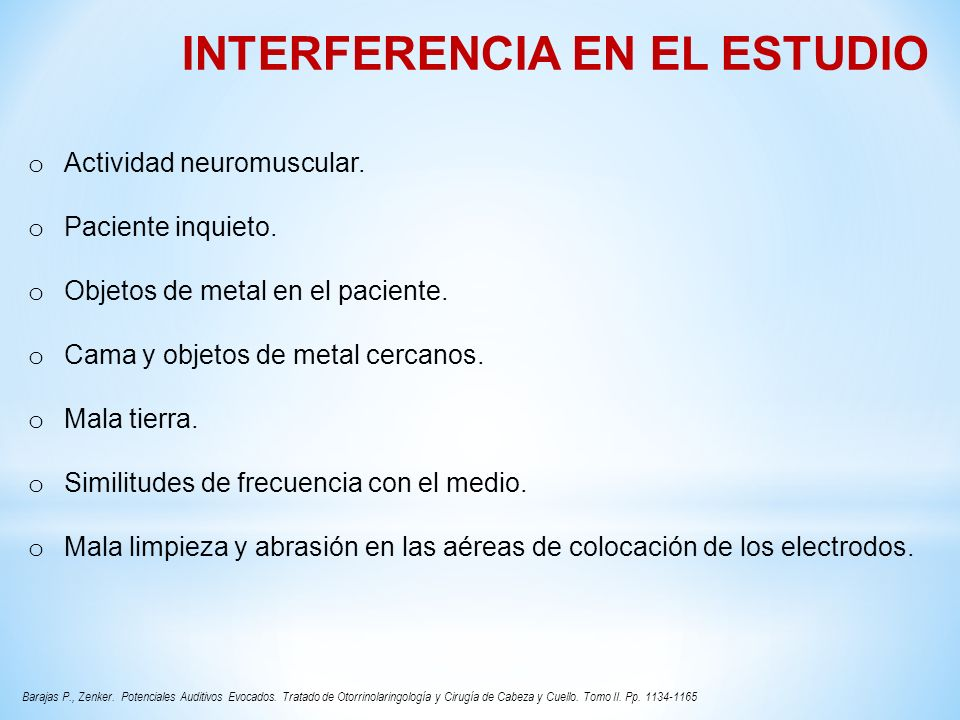 INTERFERENCIA EN EL ESTUDIO