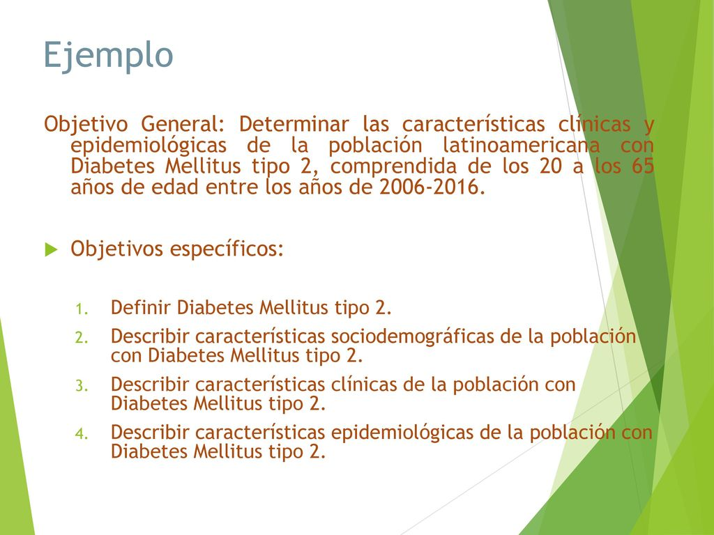 objetivo para la diabetes tipo 2