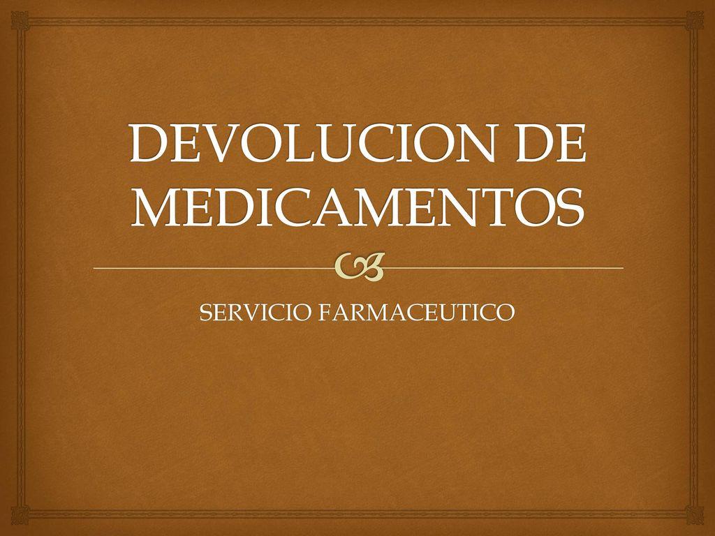 Devoluciones De Productos Farmaceuticos