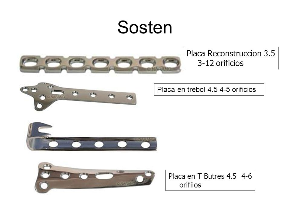 Sosten Placa Reconstruccion orificios
